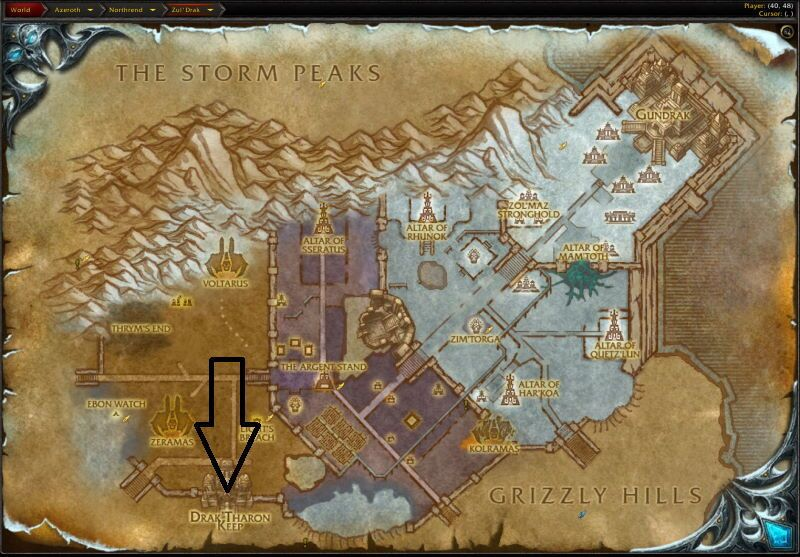 Location of Drak`Theron Keep