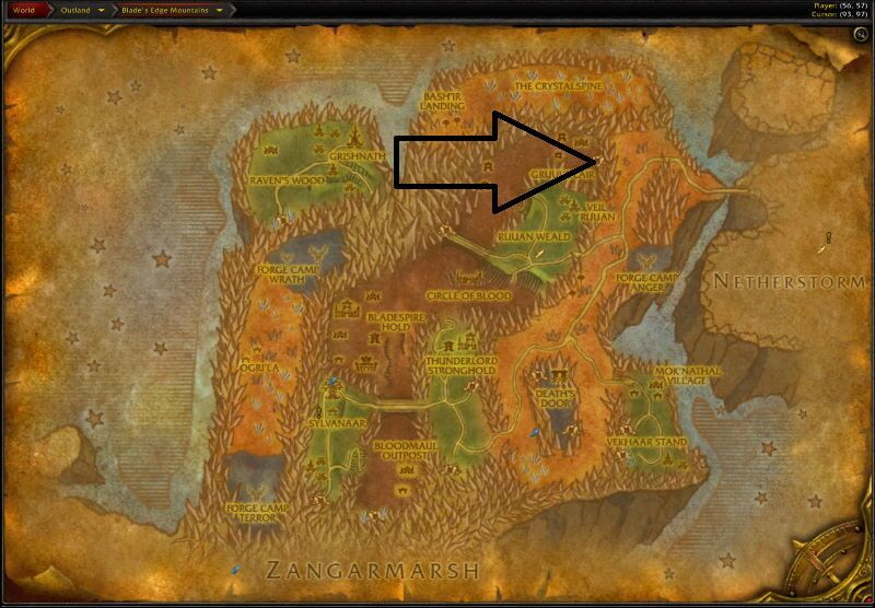 Location of Gruul`s Lair