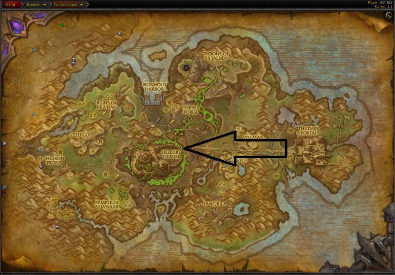Location of the Entrance to Hellfire Citadel (Visit Page for More Pictures and Information)