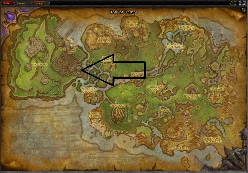 Location of Highmaul