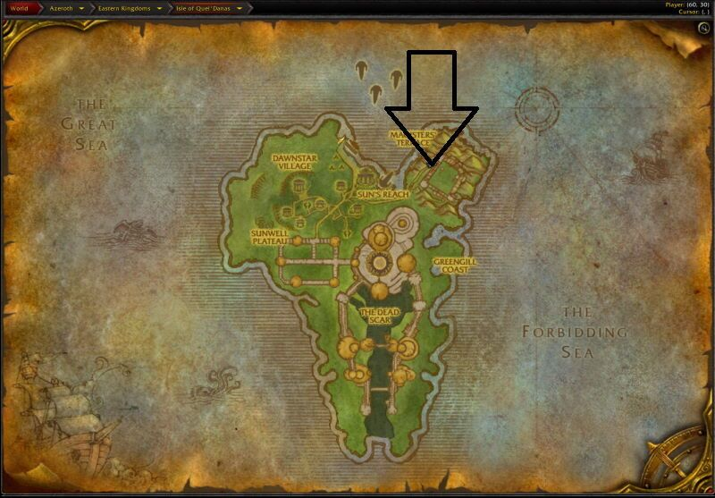 Location of Magisters Terrace