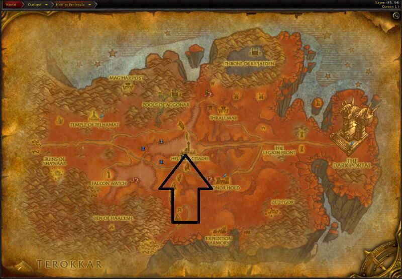 Location of Magtheridon`s Lair
