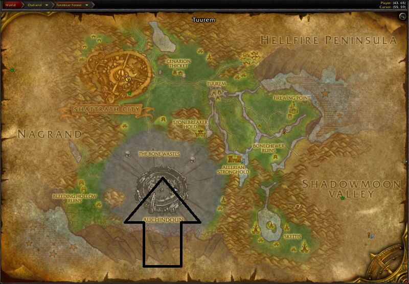 Location of Mana-Tombs
