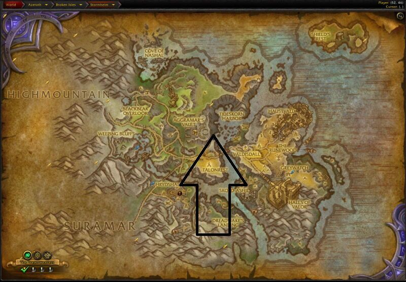 Location of Maw of Souls