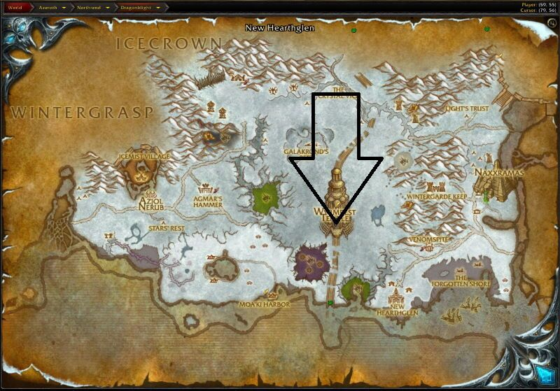 Location of The Obsidian Sanctum