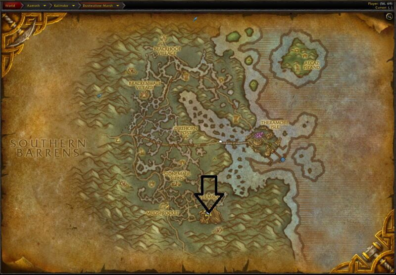 Location of Onyxia`s Lair