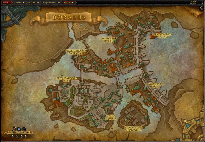Location of Siege of Boralus