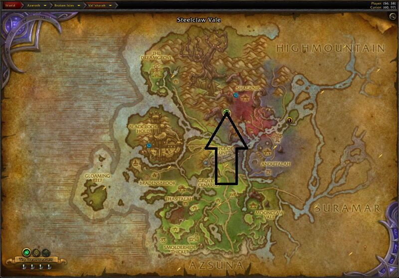 Location of the Entrance to The Emerald Nightmare (Visit Page for More Pictures and Information)