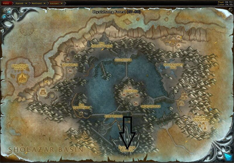 Location of Forge of Souls