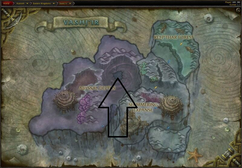 Location of Throne of Tides