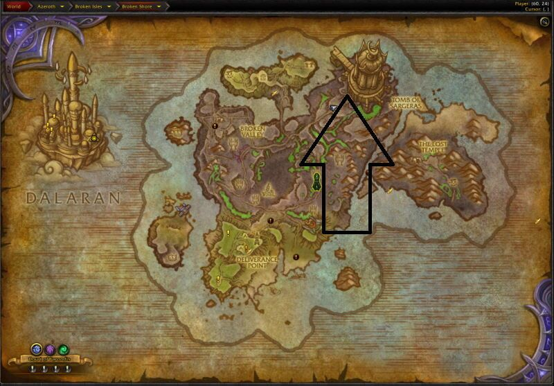Location of Tomb of Sargeras