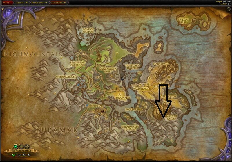 Location of Trial of Valor