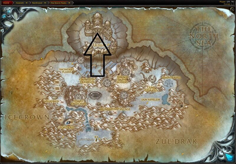 Location of the Entrance to Ulduar (Visit Page for More Pictures and Information)