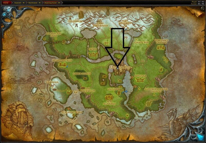 Location of Utgarde Pinnacle