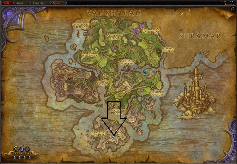 Location of Vault of the Wardens