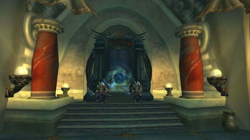 Entrance of The Obsidian Sanctum