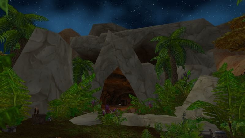Location of the Entrance to Wailing Caverns (Visit Page for More Pictures and Information)