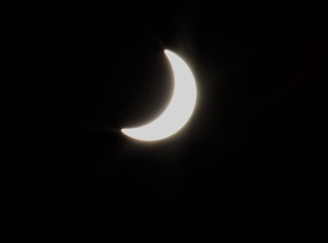 Eclipse of the Sun seen from Birmingham