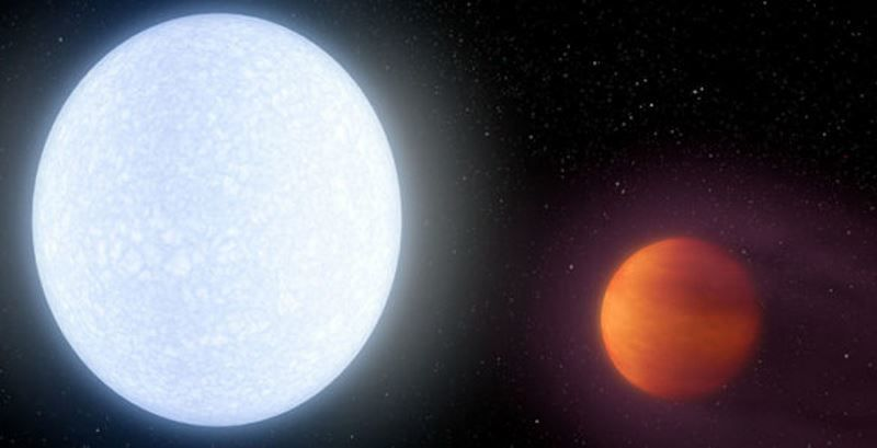 N.A.S.A. artist's impression of Kelt-9b planet in the constellation of Cygnus
