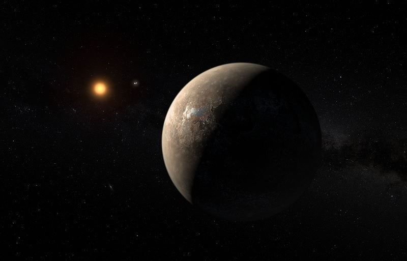 Artists Impression of Proxima Centauri b in orbit