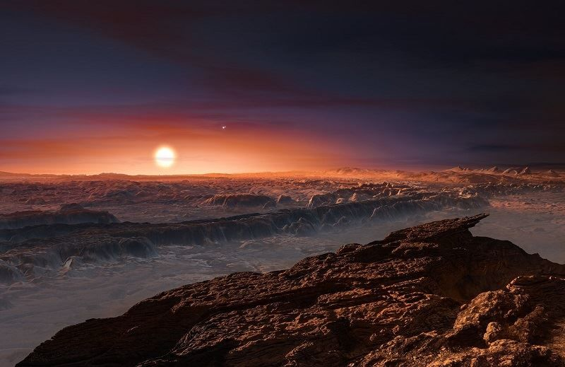 Artists Impression of what Proxima Centauri B landscape could look like.