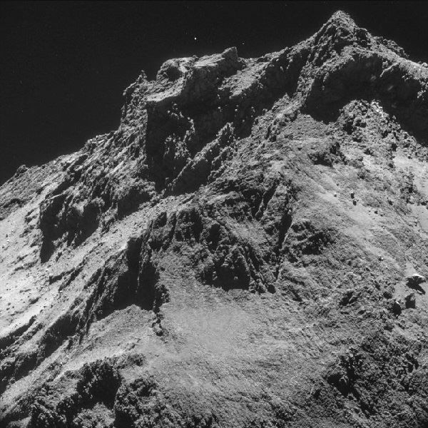 Comet Churyumov-Gerasimenko Surface (copyright ESA)