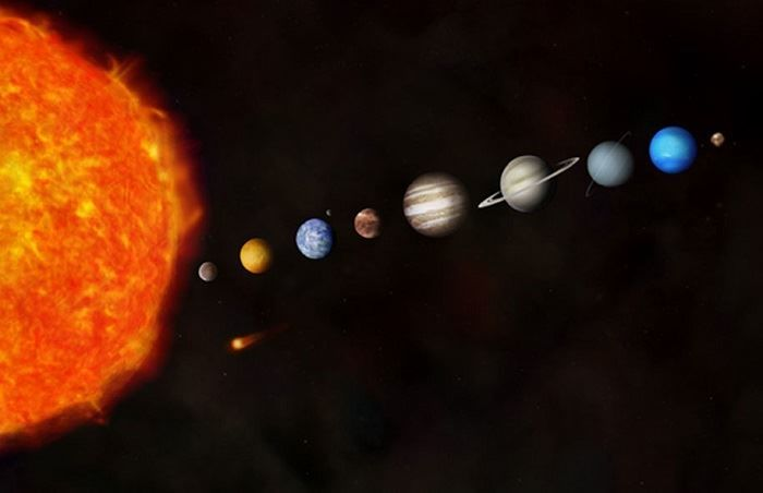 The Solar System Showing the Planets