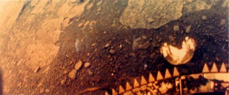 Venusian Landscape taken by Venera Probe