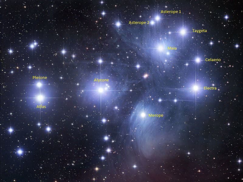 Pleiades (M45) Open Cluster in Taurus