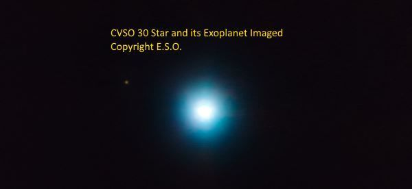 Image of CVSO30 and its exoplanet