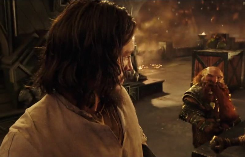 First glimpse of a dwarf in Warcraft Movie