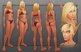 New Updated Female Blood Elf