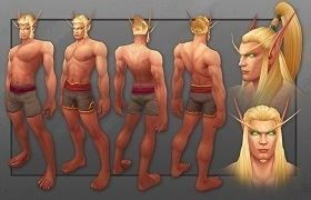 New Updated Male Blood Elf