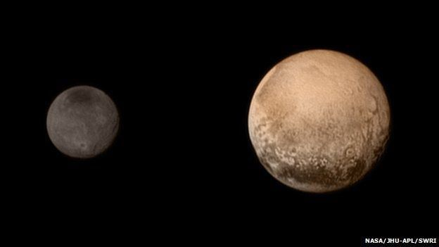 Photo of Pluto and Charon