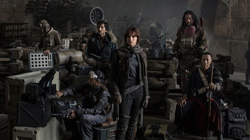 Some of the cast from Rogue One
