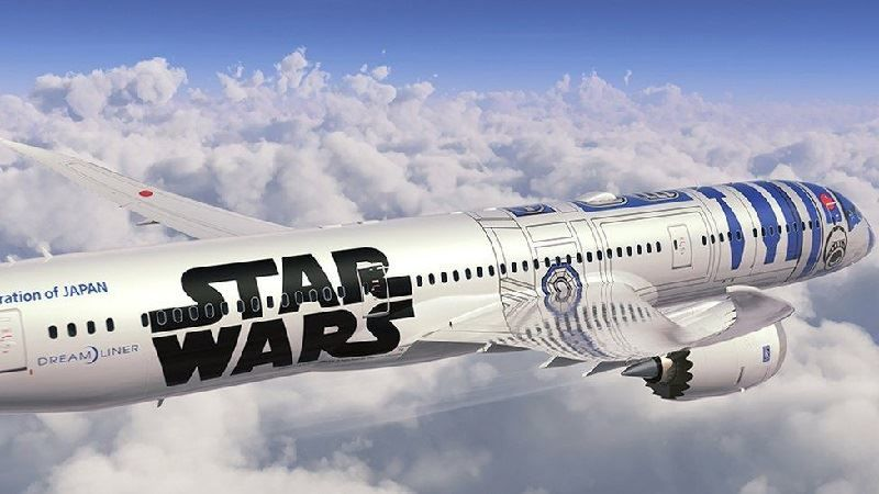 All Nipon Airlines Star Wars Dreamliner Aircraft