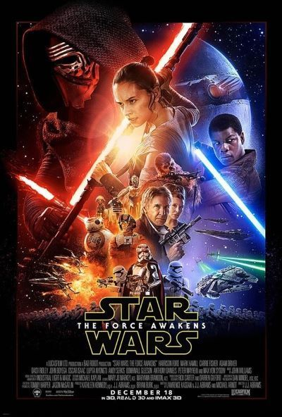Star Wars - A Force Awakens Film Poster