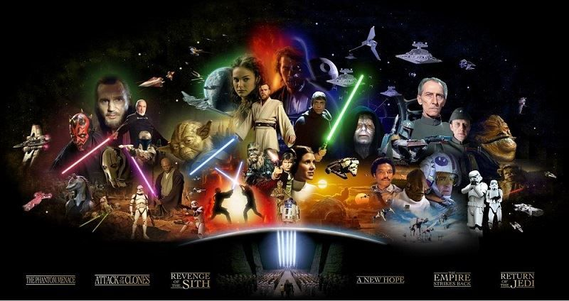 Stars Wars Character Collage - Prequels and Originals