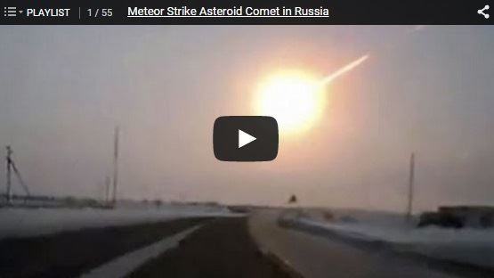 Video of the Chelyabinsk Meteor
