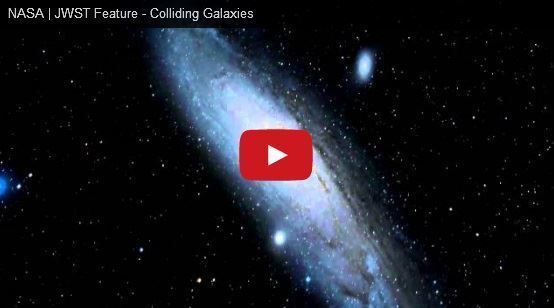 Video of two galaxies (Andromeda and Milky Way) Colliding