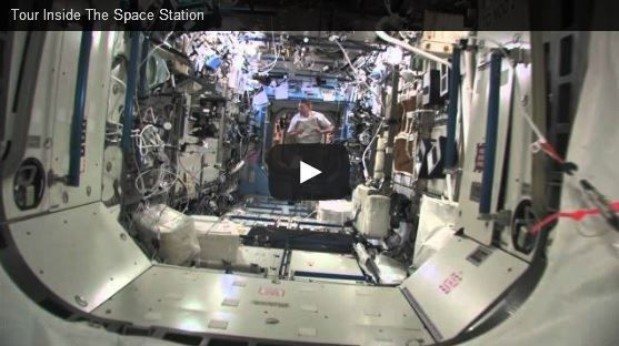 Video showing of the inside of the international Space Station