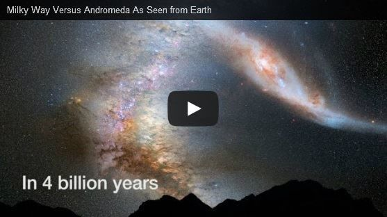 Milky Way Versus Andomeda Collision
