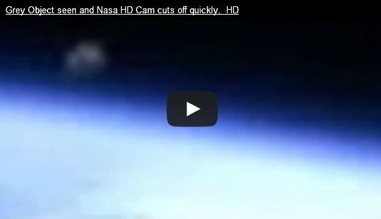 NASA video cut off after strange object spotted.