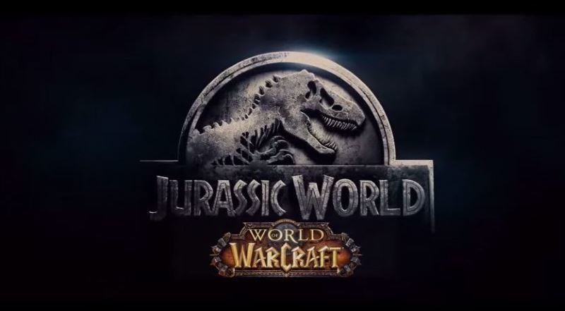 Warcraft fan plays homage to Jurassic World movie.