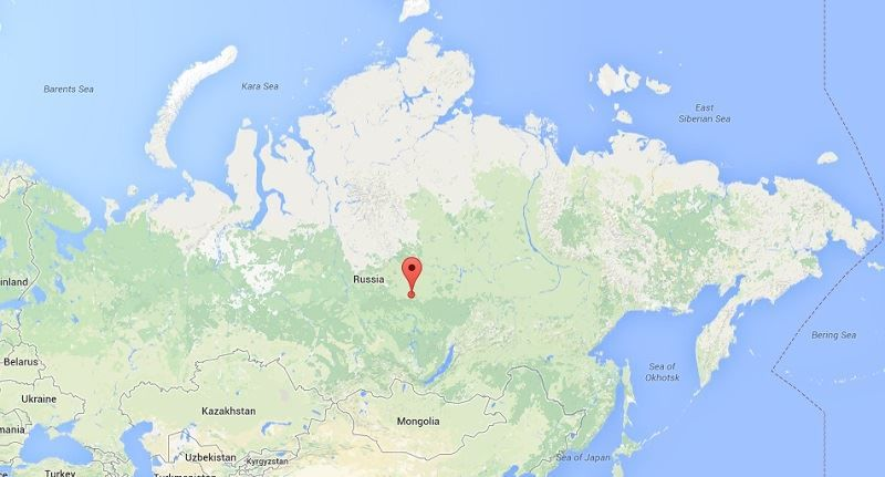 Location of the Tunguska Meteor Strike
