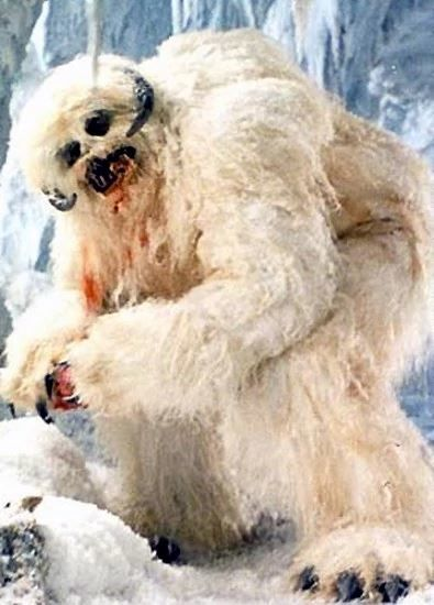 A giant Wampa creature that captures Luke and takes him back to its cave.