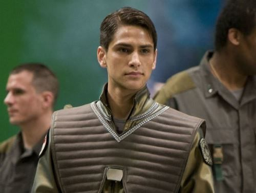 William 'Husker' Adama in the Blood and Chrome webisodes played by Luke Pasqualino