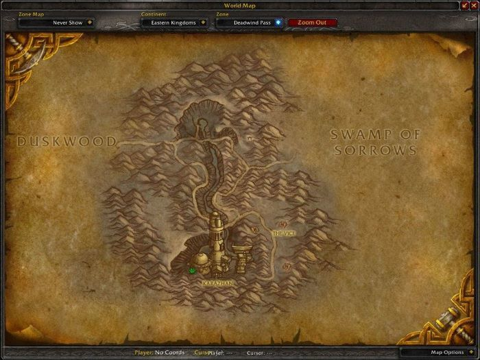 Deadwind Pass Zone in World of Warcraft, copyright Blizard Ent.