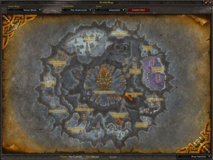 Deepholm Zone in World of Warcraft, copyright Blizard Ent.
