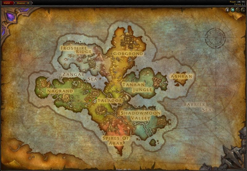 The Continent of Draenor